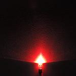 Dioda led 8mm straw hat 0.5W 20lm czerwona 2.7V 160st