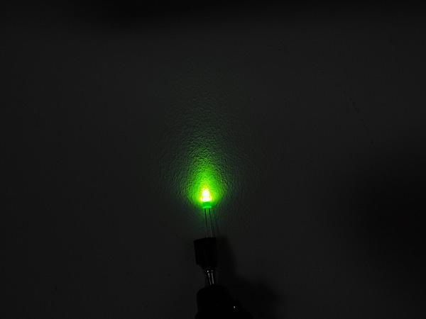 Dioda led 5mm zielona dyfuzyjna