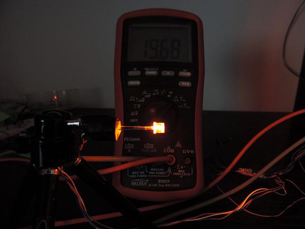 Dioda led płaska 5mm pomarańczowa - pomiary