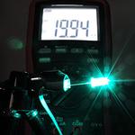Dioda led 5mm cyan przeźroczysta