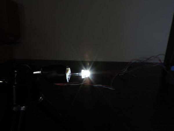 Dioda led 4.8mm straw hat biała zimna 8000-10000K 2500mcd