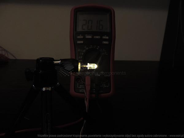 Dioda led 5mm biała ciepła przeźroczysta