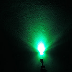 Dioda led płaska 3mm zielona 2000mcd 520-524nm 140 st