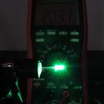 Dioda led 3mm zielona szmaragd przeźroczysta 20000 mcd