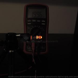 Dioda led 5mm pomarańczowa przeźroczysta - pomiary