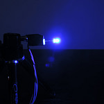 Dioda led 3mm niebieska dyfuzyjna – widok z boku