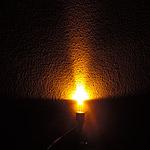 Dioda led straw hat 5mm żółta 1200 mcd 90-120st