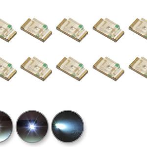Dioda LED biała zimna SMD 1206 - prezentacja
