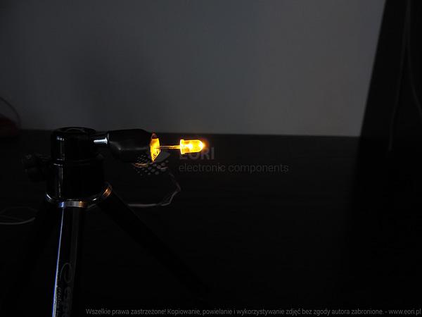 Dioda led 5mm żółta przeźroczysta 1000-2000 mcd