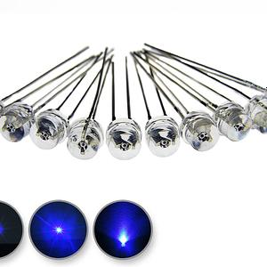 Dioda led straw hat 5mm niebieska 1400 mcd 90-120st - wygląd