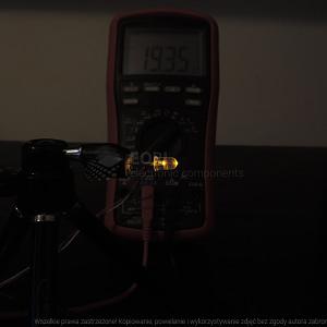 Dioda led 5mm żółta przeźroczysta - pomiary