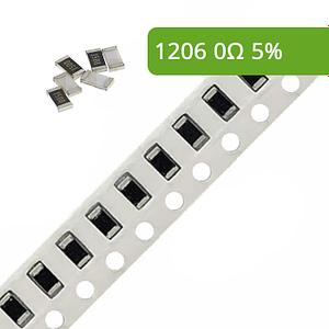 Rezystor SMD 1206 5% 0R 10 szt.