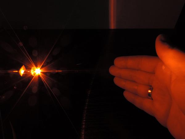 Dioda led 8mm straw hat 0.5W 18lm pomarańczowa 3.2V 145st