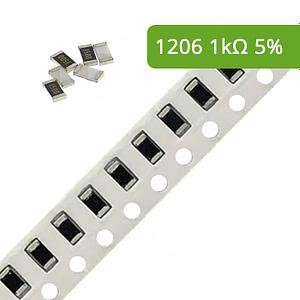 Rezystor SMD 1206 5% 1k
