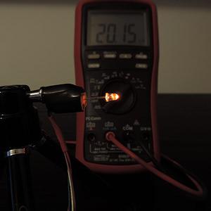 Dioda led 3mm pomarańczowa przeźroczysta - pomiary