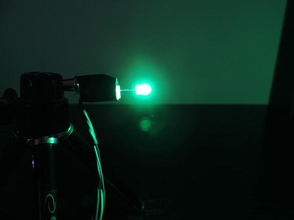 Dioda led 3mm zielona-szmaragd dyfuzyjna 1400 mcd 25-35st