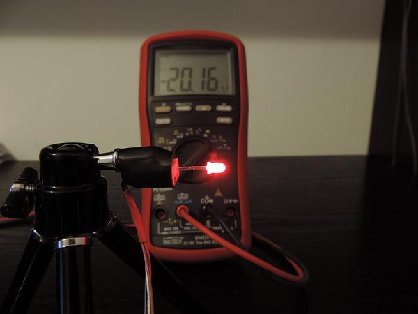 Dioda led 3mm czerwona dyfuzyjna - pomiary