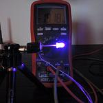 Dioda led 5mm fioletowa przeźroczysta