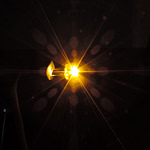 Dioda led 8mm straw hat 0.5W 18lm żółta 2.6V 155st