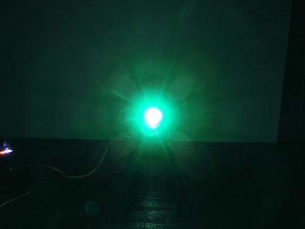 Dioda led 3mm zielona-szmaragd dyfuzyjna - przód