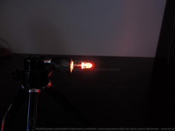 Dioda led 5mm pomarańczowa przeźroczysta 6000-8000 mcd 15st