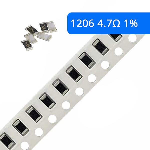 Rezystor SMD 1206 1% 4.7R 10 szt.