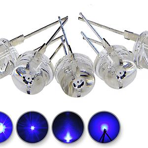 Dioda led 8mm straw hat 0.5W 22lm niebieska 4.6V 160st - wygląd