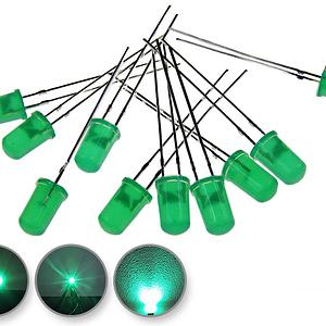 Dioda led 5mm zielona dyfuzyjna - wygląd