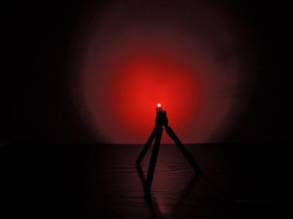 Dioda led płaska 3mm czerwona 800mcd 624-628nm 140 st