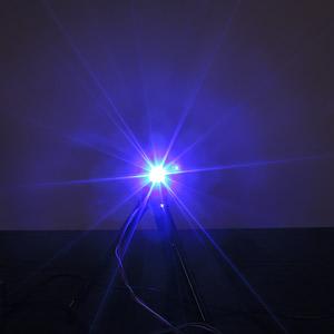 Dioda led 3mm niebieska przeźroczysta 6000 mcd 30st
