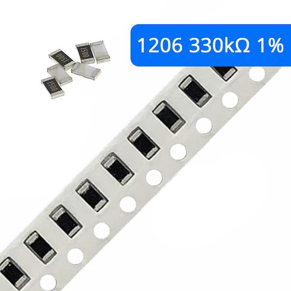 Rezystor SMD 1206 1% 330K 10 szt.