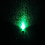 Dioda led straw hat 5mm zielona 1400 mcd 90-120st