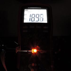 Dioda led płaska 3mm pomarańczowa - pomiary