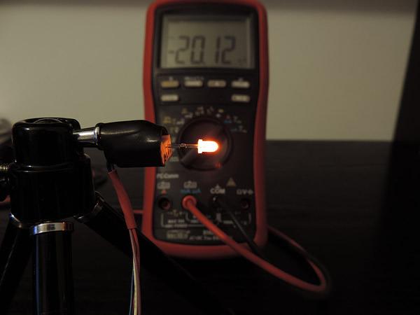 Dioda led 3mm pomarańczowa dyfuzyjna - pomiary