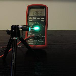 Dioda led 5mm zielona dyfuzyjna mocna - pomiar