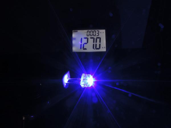Dioda led 8mm straw hat 0.5W 22lm niebieska 4.6V 160st