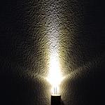 Dioda led 3mm biała ciepła przeźroczysta 3500K 4000 mcd 30st