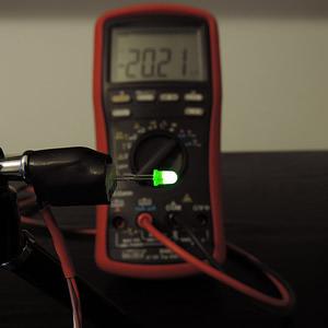 Dioda led 3mm zielona dyfuzyjna - pomiary