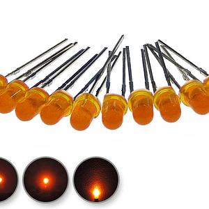Dioda led 3mm pomarańczowa dyfuzyjna - wygląd
