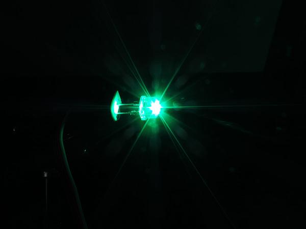 Dioda led 8mm straw hat 0.5W 35lm zielona 4.3V 145st