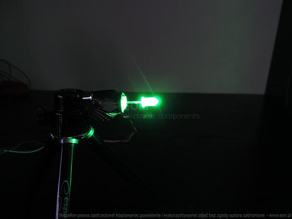 Dioda led 5mm zielona przeźroczysta
