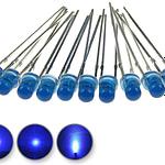 Dioda led 3mm niebieska dyfuzyjna – wygląd