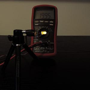 Dioda led 5mm żółta dyfuzyjna 2000 mcd 25-35st - pomiary