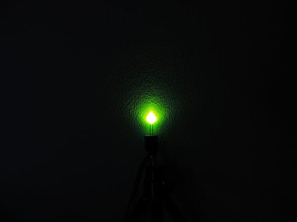 Dioda led 3mm zielona dyfuzyjna 400 mcd 25-35st
