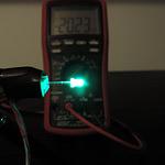 Dioda led 3mm zielona-szmaragd dyfuzyjna – pomiary