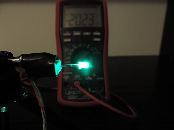 Dioda led 3mm zielona-szmaragd dyfuzyjna - pomiary