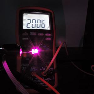 Dioda led straw hat 5mm różowa - pomiar