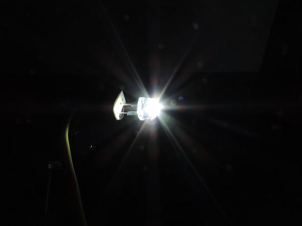 Dioda led 8mm straw hat 0.5W 24lm Biała zimna 6500K 3.7V 170st