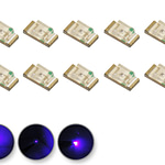 Dioda LED uv (fioletowa) SMD 0805 - zdjęcie 3